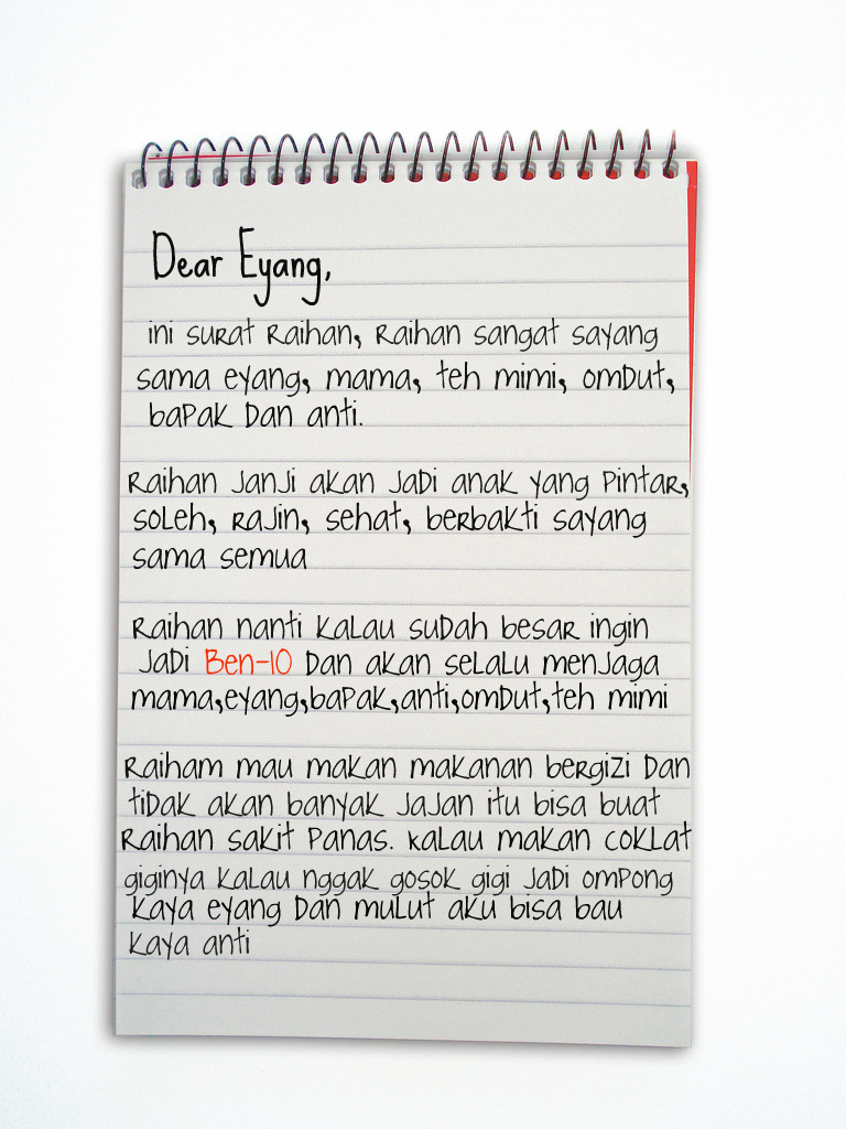 Surat Untuk Eyang Raihanauntys Blog